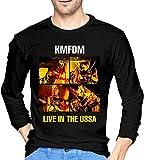 KMFDM Rock Music Band Men Novelty Crewneck Long Sleeve T Shirts Custom Top Tees