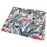 Tropical Animal Flamingo Zebra Baby Changing Mat 25.5'x31.5' Waterproof Diaper Changing Pad Für Reisen in Kinderwagen