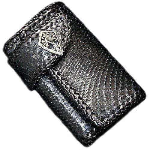 【diosbras-ディオブラス-】パイソン ブラツク 黒 蛇革 ヘビ革 使用 本革 キーケース