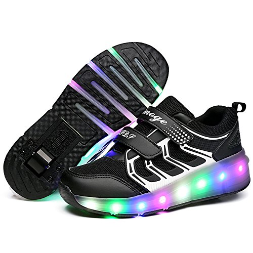Neyou Zapatillas de Skate con Luces LED Recargables Intercambiables de 12 Colores...