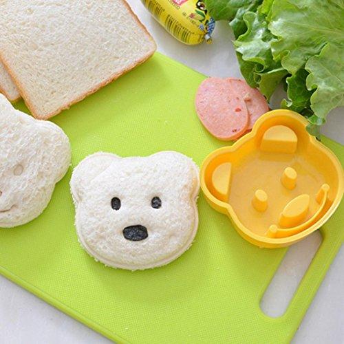 Gaddrt Sandwich Moule Ours Motif Sandwich croûte Cutter moule déjeuner Sandwich Toast