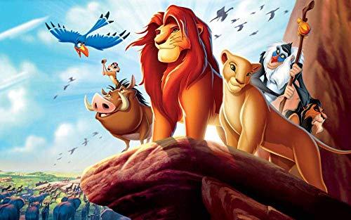 Puzzles Adultos 1000 Piezas Rompecabezas El Rey León Y Sus Amigos De Juegos Educativos Juguetes Niños Puzzles Para Adultos Es Un Buen Regalo Para Amigos,Juego Familiar
