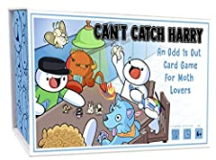 Can you catch Harry the Moth? Find out in this Odd 1s Out original game. This set includes 58 playing cards featuring all of your favorite Odd 1s Out characters, 1 play mat, 6 plastic figurines, and instructions Set moths up on game mat, deal 4 cards...
