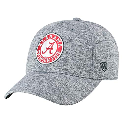 Top of the World Alabama Crimson Tide Men's Adjustable Steam Charcoal Icon hat, Adjustable