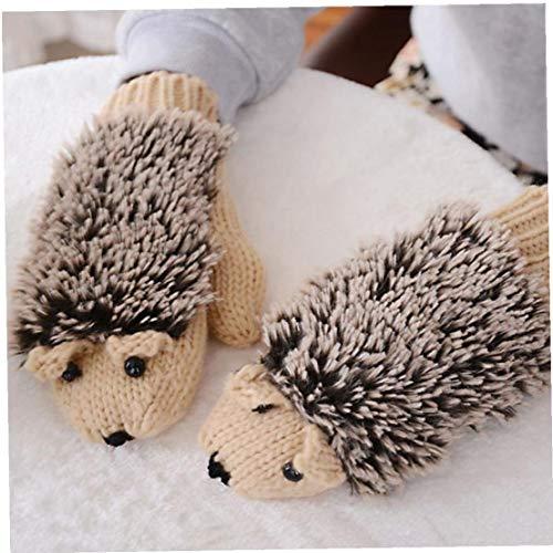 Paramani Hedgehog Eleganti Paramani Inverno Riscaldata Villus Polso Mittens Inverno Del Fumetto Fai Da Te Knit Caldi Paramani Fitness Esterna Portatile Mittens Fitness Alimentazione