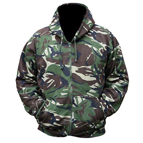 Kombat UK Veste à Capuche et Fermeture éclair avec Motif de Camouflage pour Homme S DPM Camouflage.