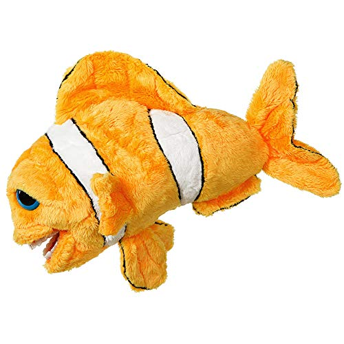 StarSmilez Kids Tooth Brushing Buddy Lil Finn Fish - Plush Dental Education Helper - Teach Children flossing and Overall Care for Mouth and Teeth
