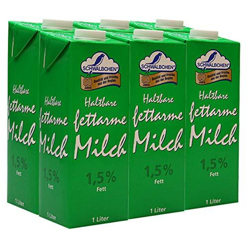 Schwälbchen Haltbare fettarme Milch, 1,5% Fett, 6er Pack