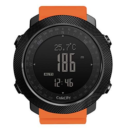 CakCity, orologio militare da uomo per sport all'aria aperta digitale orologio da uomo con bussola temperatura,passo tracker, quadrante grande, modello: Apache Sugarpine Air Mesh - Donna