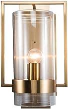 WSW Light Luxury Fashion Modern Minimalist Wall Lamp Creative Glass Wall Light Round Glass Shade Metal Lamp Body Personali...