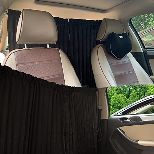 ZATOOTO Car Divider Privacy Window Curtains - Windshield Magnet Sunshades Side Covers Travel Sun Shades Removable Simple