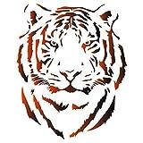Testa di tigre – stencil per pittura riutilizzabile – Africa, grande gatto, animale, fauna selvatica - 34 x 42cm - L
