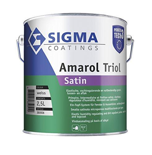 SIGMA Amarol Triol Satin 1 Liter Weiß