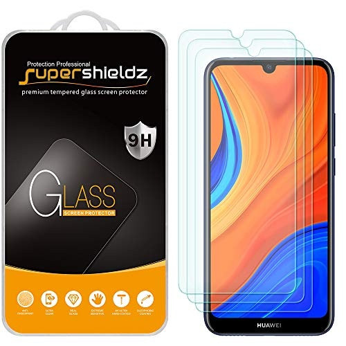 (3 Pack) Supershieldz Designed for Huawei Honor 8A Prime and Honor Play 8A Tempered Glass Screen Protector, Anti Scratch, Bubble Free