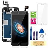 FLYLINKTECH écran pour iPhone 6s Noir 4,7' LCD de Remplacement Complet - préassemblés LCD avec capteur de proximité, caméra Frontale, écouteur et Plaque arrière en métal Kit d'outils de réparation