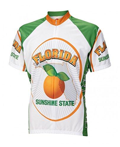 World Jerseys Florida Sunshine State Men's Cycling Jersey (Large)
