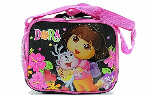 Dora The Explorer Girl's Pink/Black Insulated Lunch Bag BP-5219
