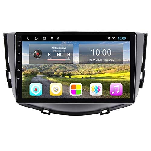 Android Autoradio Radio Double DIN Sat Nav para Lifan X60 2012-2016 Navegación GPS 2.5D Pantalla Táctil Reproductor Multimedia FM Am DVD Video Receiver(Color:4G+WiFi 2G+32G)