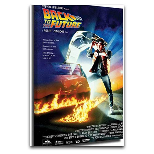 Back to The Future Movie Posters Canvas Mural 3D Print Wall Art for Living Room Michael J Fox Christopher Lloyd at Watch Watch12'×18'(30 * 45cm)