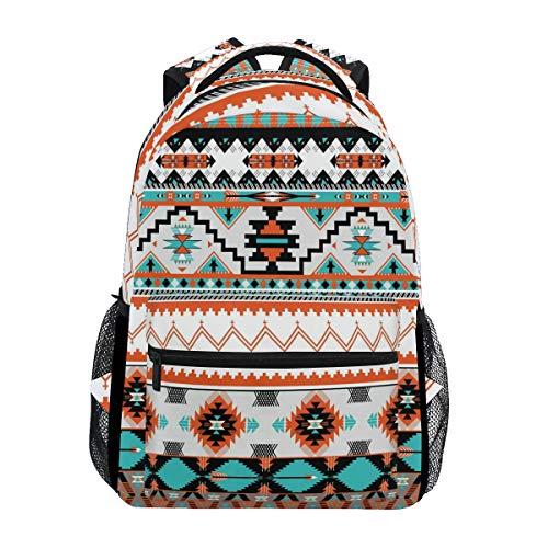 WXLIFE Tribal Ethnic Aztec Geometric Backpack Travel School Shoulder Bag for Kids Boys Girls Women Men