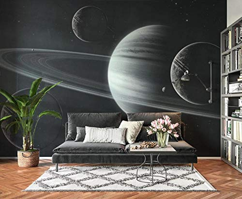 Papel Pintado Pared 3D Resumen Universo Planeta Cielo Estrellado Moderno Dormitorio Salon Decoracion murales