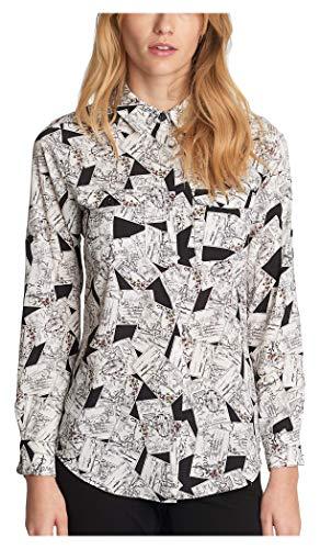 Karl Lagerfeld Paris Damen CDC WHIMISCAL Blouse Hemd, Schwarz Multi, Mittel