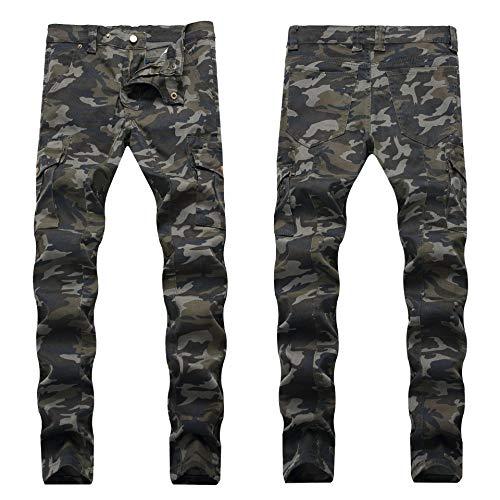 Vaqueros para Jeans Pantalones Pantalones Vaqueros para Hombre Pliegues Europeos Y Americanos Pantalones Vaqueros Ajustados para Hombre Pantalones De Hombre Multibolsillos De Moda