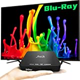 [Upgrade] HD DVD Player Blu-Ray Player with HDMI RCA Cables to Combinations DVDs TV Projector, 1080P Blu-Ray Disc Player Support USB Coaxial, Built-in PAL NTSC System [Mini]
