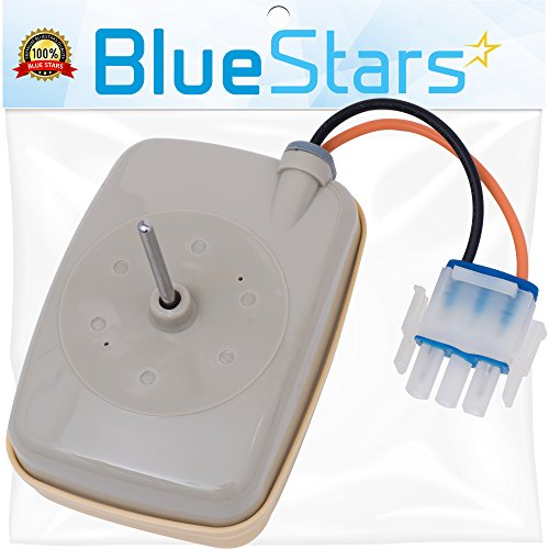 Ultra Durable WR60X10141 Refrigerator Evaporator Fan Motor Replacement Part by Blue Stars - Exact fit for General Electric & Hotpoint Refrigerators - Replaces WR60X23584 WR60X10045 WR60X10046