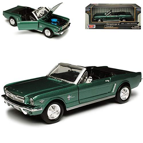 Motormax Ford Mustang Cabrio 1964 GrÜn 1. Generation 1964 1/2 1/24 Modellauto Modell Auto