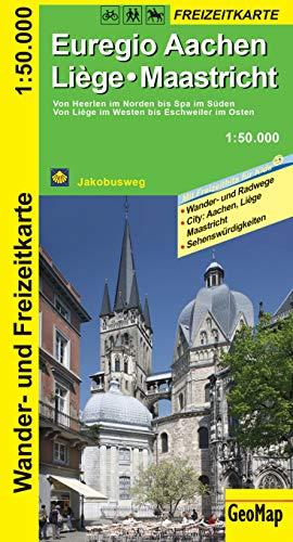 Euregio Aachen, Liege, Maastricht Wander- und Freizeitkarte: 1:50.000
