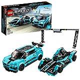 LEGO Speed Champions Formule E Panasonic Jaguar voiture de course GEN2 & Jaguar I-PACE eTROPHY, Set de voiture de course, 239 pièces, 76898