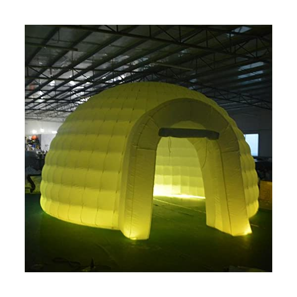 SAYOK 5m LED Inflatable Dome Event Tent Inflatable Igloo House Tent for Party Wedding Show Exhibition