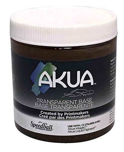 "Akua Intaglio IITB Water Based Ink, Non-Toxic, 8 oz. Jar, Transparent Base, 2.7"" Height, 3.3"" Width, 3.3"" Length"