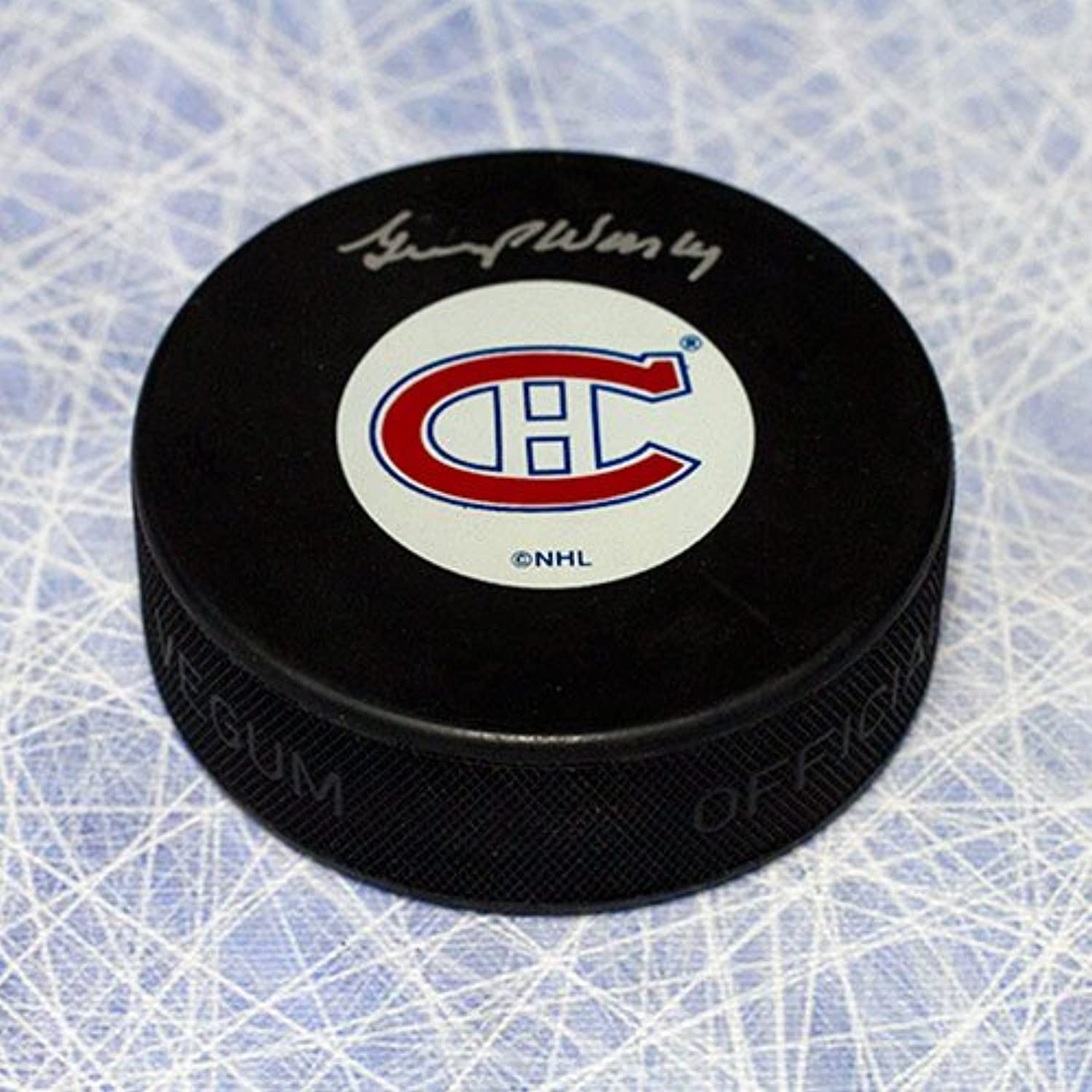 Gump Worsley Montreal Canadiens Autographed Hockey Puck