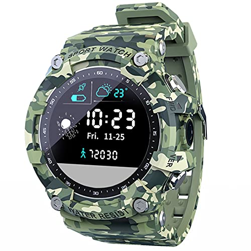 Smart Watch Pantalla Táctil Completa Fitness Tracker IP68 Actividad Al Aire Libre Impermeable Reloj Inteligente para Android iOS,B