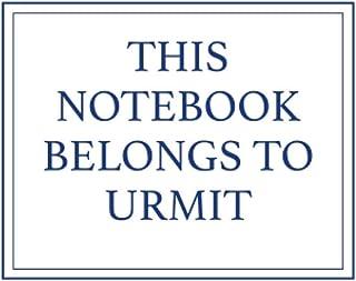 This Notebook Belongs to Urmit