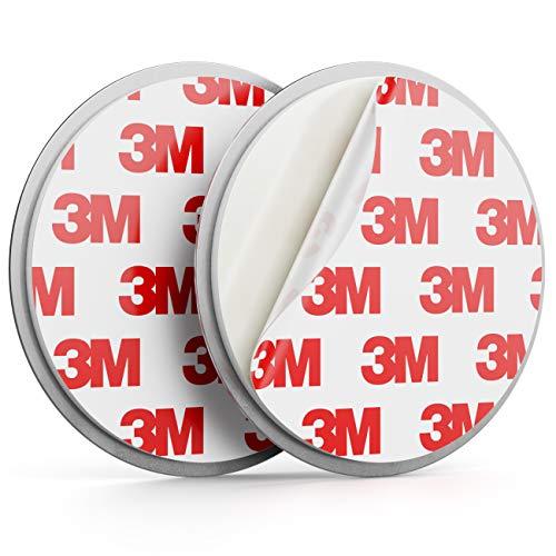 deleyCON 1x Magnetbefestigung für Rauchmelder Magnethalter Feuermelder Selbstklebende Magnethalterung Klebefläche 65mm Durchmesser