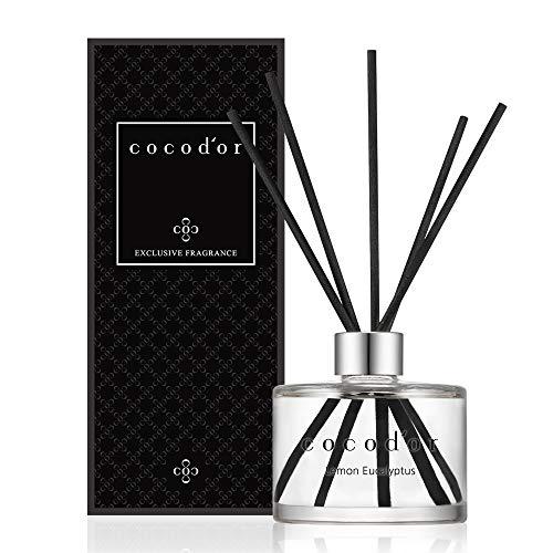 Cocod'or Signature Reed Diffuser/Lemon Eucalyptus/6.7oz(200ml)/1 Pack/Reed Diffuser, Reed Diffuser Set, Oil Diffuser & Reed Diffuser Sticks, Home...