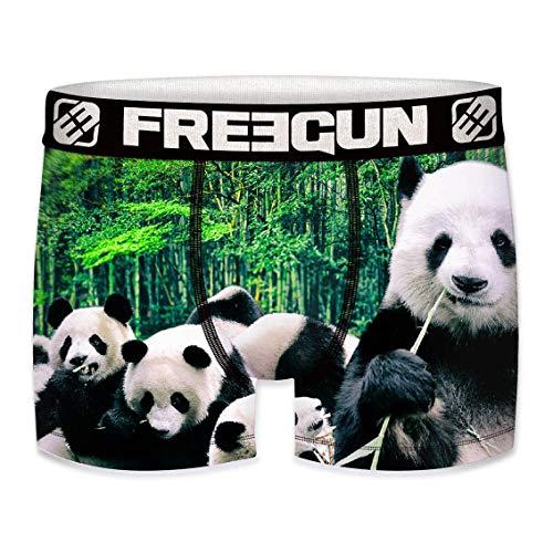 FREEGUN Herren Boxershorts, Wildlife-Edition 14 Verschiedene MEGA-Designs (Panda, XL/7/52)