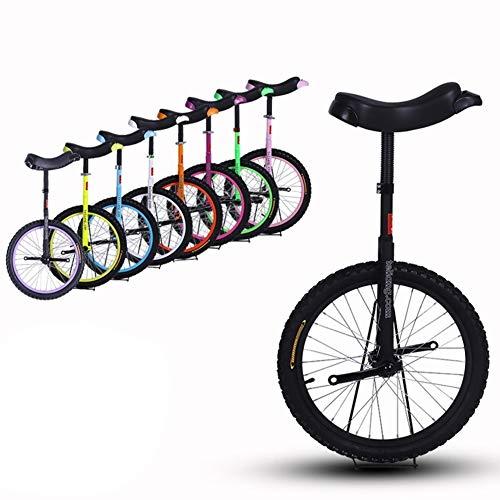 """HWF Einrad Kinder 16\"""" Zoll Rad Einrad für Kinder/Jungen/Mädchen, Hochleistungsstahlrahmen und Leichtmetallrad, Bestes Geburtstagsgeschenk, 8 Farben Optional (Color : Black, Size : 16 Inch Wheel)"""