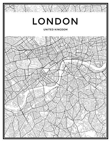 Rompecabezas De Madera   Landon Mapa De La Ciudad Blanco Negro Patrón Puzzle,para Adultos Y Niños, Adultos Adolescentes Pruebas De Estrés Desafío Juguetes Difíciles,1500Pcs
