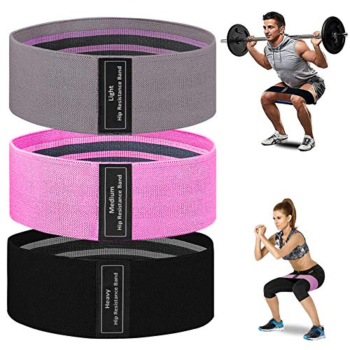 MOVOYEE Exercise Bands for Working Out Men Women,Workout Elastic Bands Long Fabric Body Resistance Bands Thick Set 3 Loop Fitness Equipment Fit Home Training Gym Booty Legs Arm Butt Hip Yoya Pilates