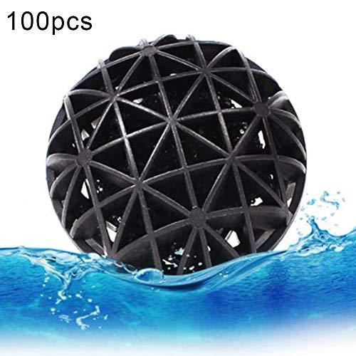 KeKeandYaoYao 100 Stks 16 mm Aquarium Luchtpomp Sponge Filter Bio Ballen Fish Tank Vijver Beschermer - Zwart 100 stks, 100pcs, Zwart