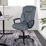 Serta Style Hannah II Office Chair, Harvard Gray Bonded Leather