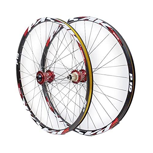 Llantas de Bicicleta de Montaña, Juego de Ruedas de Bicicleta de 26 27.5 29 Pulgadas, Doble Pared, Eje Pasante, Llanta, Freno de Disco, 32 Agujeros, Velocidad 7-8-9-10-11 ( Color : D , Size : 27.5IN )