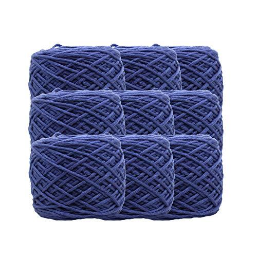 200 g/hilo de tejer a mano suave invierno cálido hecho a mano hilo de tejer de lana gruesa, utilizado para sombreros, lana de ganchillo hilados de bricolaje azul real 2