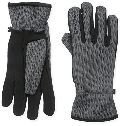 Spyder Men's Core Sweater Conduct Gloves, Large, Polar/Black