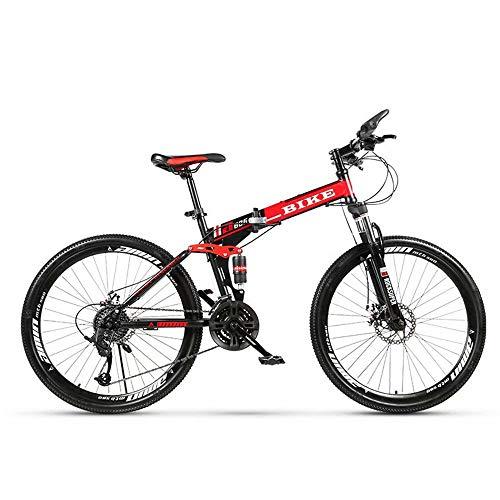 Novokart-Mountain Bike Unisex, Bicicletas montaña 21/24/27 Pulgadas, MTB para Hombre, Mujer, con Asiento Ajustable, Frenos de Doble Disco,Negro, 21-Speed Shift,Rueda de radios