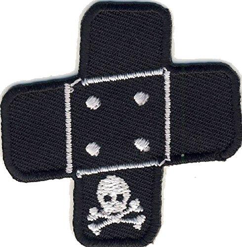 MQ Pflaster Totenkopf - Skull - Aufnäher Aufbügler Applikation Patch - ca. 5 x 5 cm